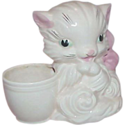 SALE Vintage HULL ART Pink Kitty Planter