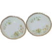 Pair of P. K. Silesia German Porcelain Fruit Bowls
