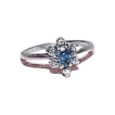Gorgeous 10k White Gold Blue Spinel and Diamond Ring