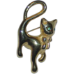 Highly Stylized NAPIER Cat Brooch/Pendant