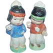 Adorable JAPAN Signed Little Indian Salt and Pepper Shakers