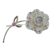Big, Bold SARAH COVENTRY Flower Brooch with Aurora Borealis Stones