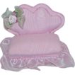 Vintage Pink Grosgrain and Voile Love Seat Pin Cushion