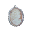 REDUCED Victorian 14k Gold Shell Cameo Pendant
