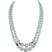 Gorgeous JAPAN Signed Faux Pearl and Aurora Borealis Bead Necklace