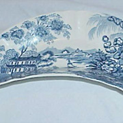 REDUCED &quot;Tonquin&quot; Royal Staffordshire Clarice Cliff Blue Delft Bone Dish