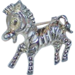 Whimsical SARAH COVENTRY  Zebra Brooch