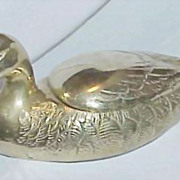 REDUCED Vintage Solid Brass Duck Bowl/Planter