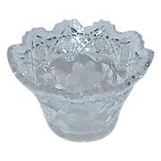 REDUCED Elegant American Brilliant Small Glass Candy Bowl