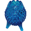Fenton Royal to Cobalt Blue Hobnail Footed Bowl