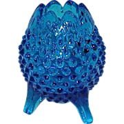 REDUCED Fenton Royal to Cobalt Blue Hobnail Footed Bowl