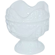 MI Copyright Milk Glass Salt Cellar or Egg Cup
