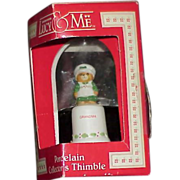 "REDUCED Vintage Enesco ""Lucy & Me"" Bisque Porcelain Grandma Thimble"