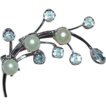 Beautiful ACT II Faux Pearl and Rhinestone Brooch