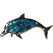 Lovely Little Abalone Dolphin Brooch