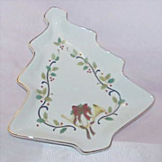 Beautiful MIKASA Christmas Tree &quot;Holiday Elegance&quot; Dish