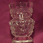 Beautiful Old Cut Crystal Pedestal Toothpick Holder