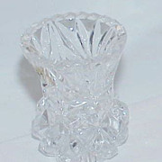 German Crystal Toothpick Holder