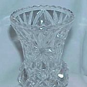 Vintage Lead Crystal Large Toothpick/Match Stick Holder