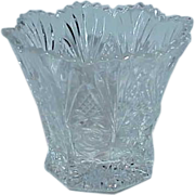 SALE American Brilliant Glass Bowl