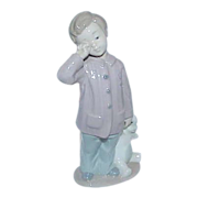 "Vintage NAO by Lladro ""Sleepy-Head"" Boy Figurine"