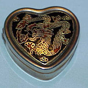 Unusual Little Heart Shaped Pill/Saccharine Box