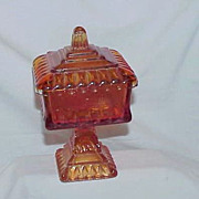 Amberina Pedestal Candy/Nut Dish