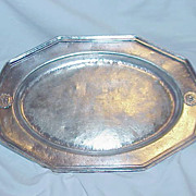 "Barth & Son, Inc. Nickle Silver ""Hotel Olympic"" Small Platter"