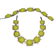Yummy Yellow Moon Glow Rhinestone Necklace and Bracelet Set - Demi parure