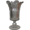 Stunning!  British 19th Century Celery Leaf  Glass Vase