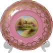 Outstanding! Pink with Gilt Royal Doulton Service Plates, 12
