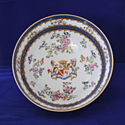 French, 1873 Samson &quot;Campagnie des Indes&quot; Armorial Bowl