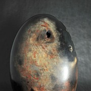 MAGNIFICENT Free Form Pottery Egg, Studio Sculpture