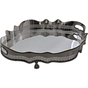 STUNNING!   Vintage Silver Plate  Galleried  Centerpiece / Tea Tray