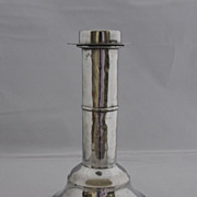 RARE!  Late 18th - 19th Century Pewter Candlestick