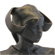 "Ruth Anna Maria Miles Bronze, ""Bust Of a Young Dutch Girl """