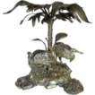 Rare 19th Century  Elkington Silverplate Ibis Centerpiece,  Signed