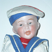 8&quot; Bisque Head Character Boy Doll ~ Dressed as a Sailor