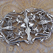 Rare Orante Sterling Silver Scottish Buckle Circa 1740