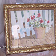 Original Watercolor Painting Red Geraniums
