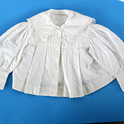 Child's Doll blouse for larger doll antique with white lace.