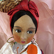 Boudoir Doll Magnificent Dark skinned and has bananas on head