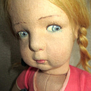 Lenci blue and pink plaid 21 inches looks like Edith the Lonely doll