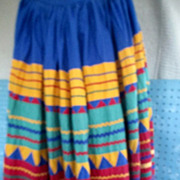 SOLD Seminole Indian skirt 53 inches lon 30 inch waist