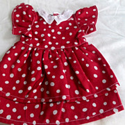 SOLD Bleuette Red with white polka dots especially cute