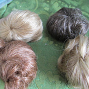 Doll wigs mohair for smaller sized dolls two size 5 two size 6