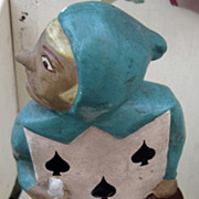 Alice in wonderland Card figure has Spades