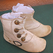 White Leather doll or child shoes