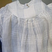 Wonderful Blue and white stripe doll dress