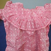 Pink Antique doll dress  12 inches long